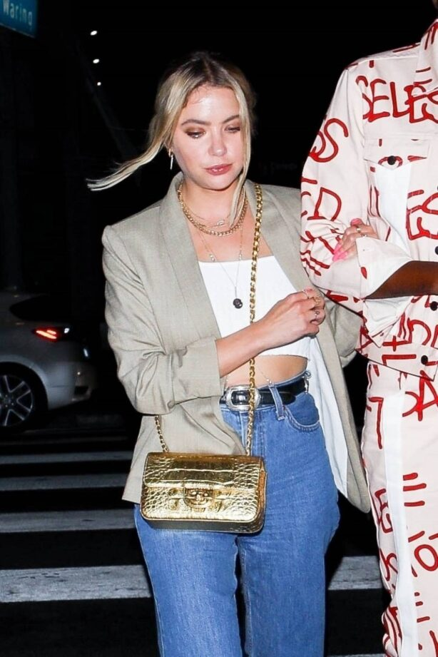Ashley Benson - arrives at Carter Gregory's birthday party at 40 Love in West Hollywood