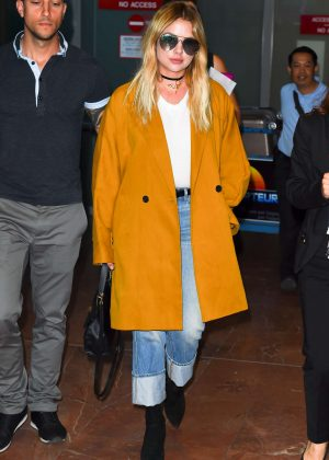 Ashley Benson Arrives at Nice Airport in Cannes