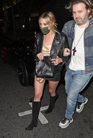 Ashley Benson - Arriving at re-opening of Bootsy Bellows night club in West Hollywood