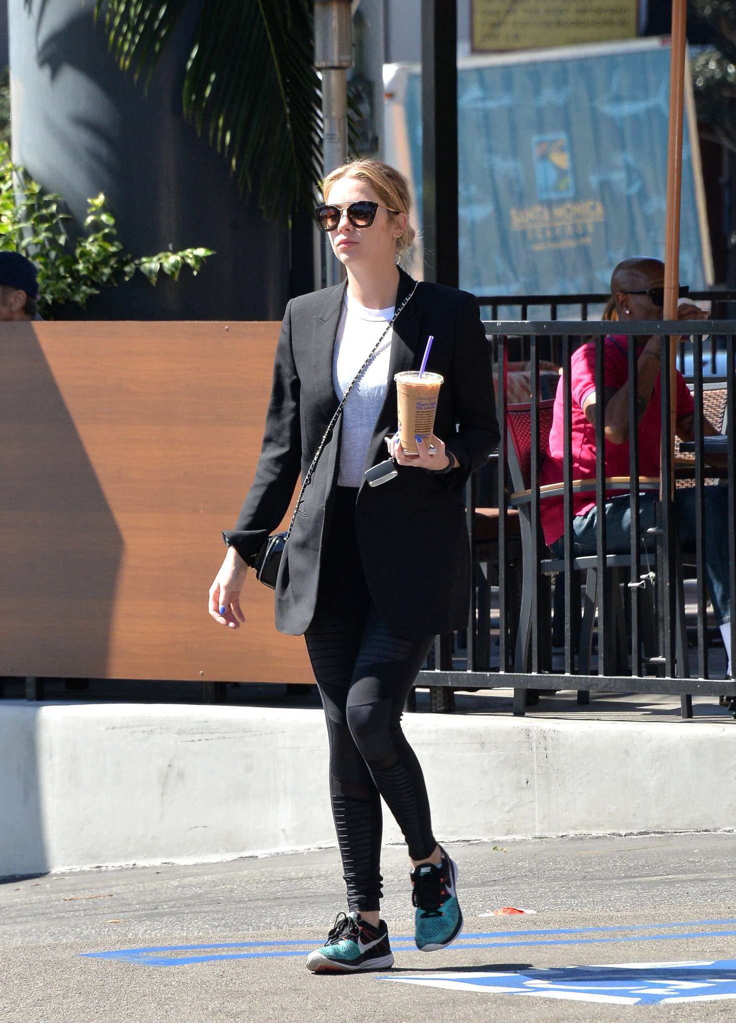 Ashley Benson at a Coffee Bean in Los Angeles