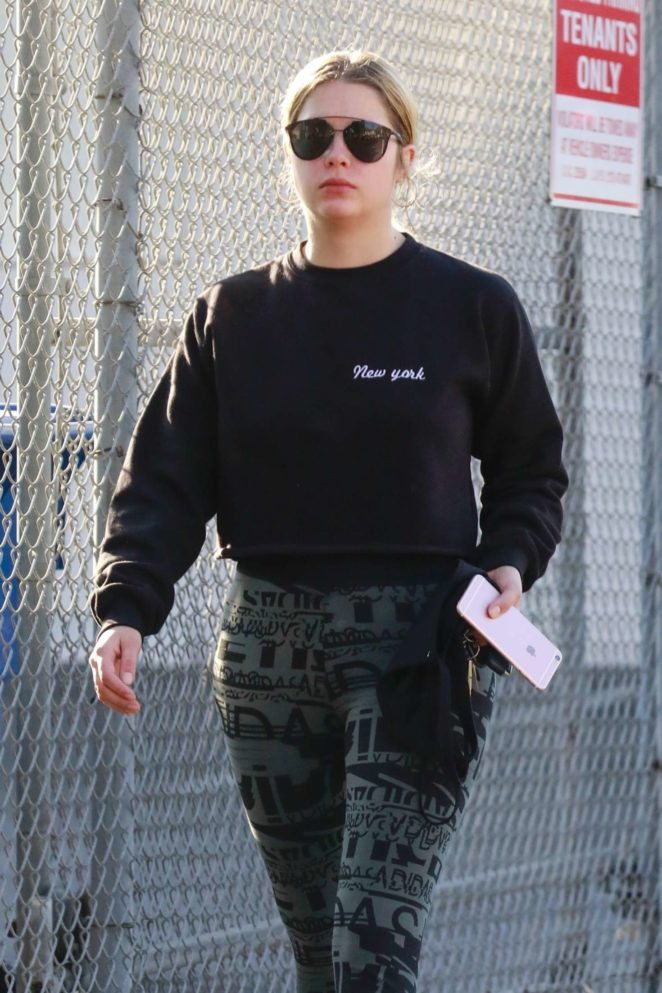 Ashley Benson at a spa day in LA