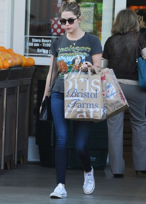 Ashley Benson - Shopping at Bristol Farms in Beverly Hills