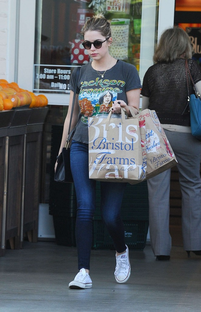 Ashley Benson at Bristol Farms in Beverly Hills