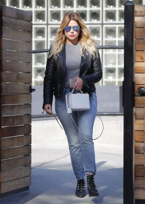 Ashley Benson at hair salon in Beverly Hills