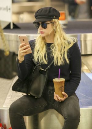 Ashley Benson at LAX International Airport in Los Angeles