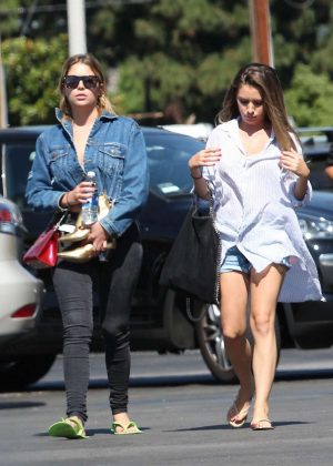 Ashley benson at nail salon in studio city for A salon of studio city