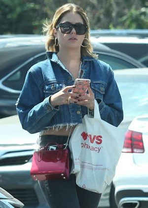 Ashley Benson at nail salon in Studio City
