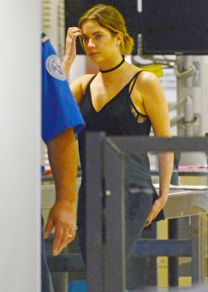 Ashley Benson at the Airport in Miami