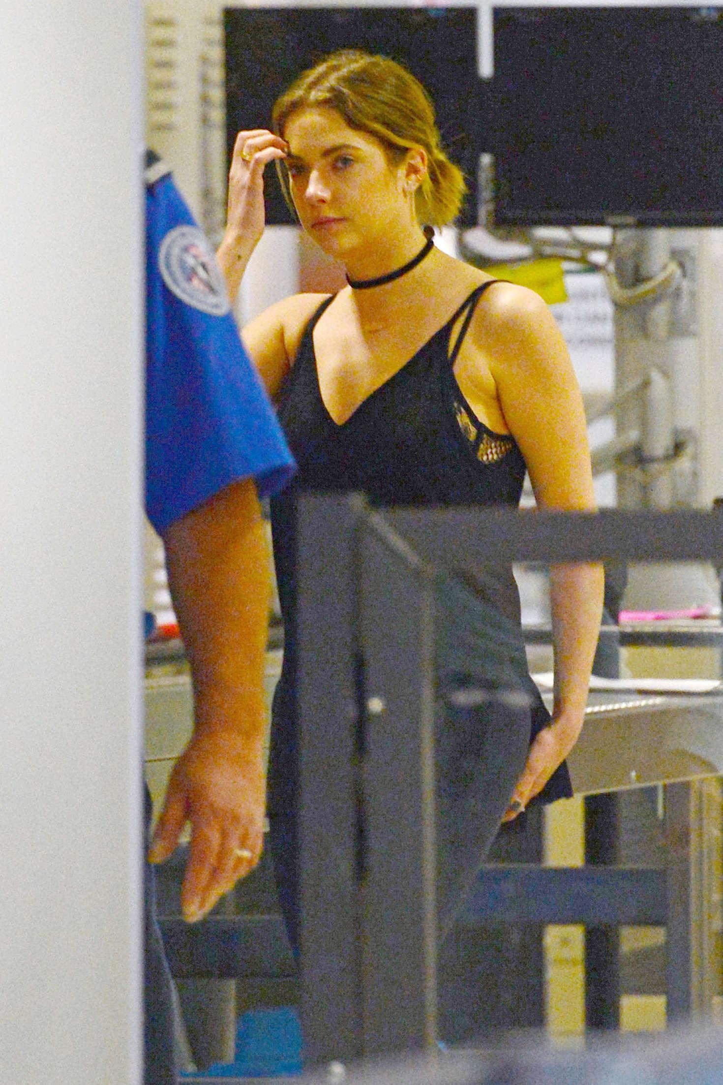 Ashley Benson at the Airport in Miami