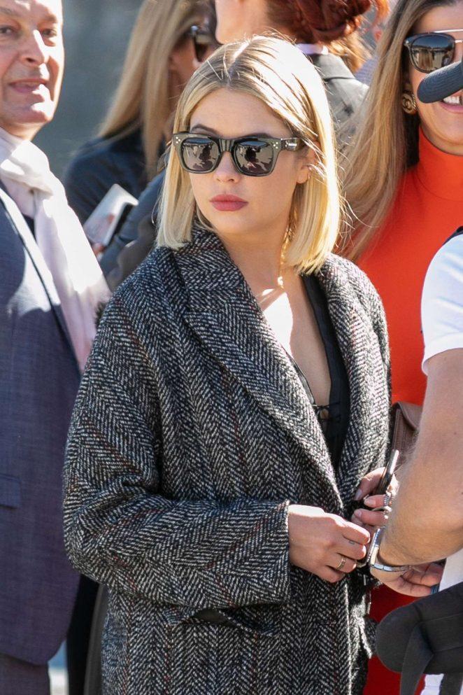 Ashley Benson – Attending the L'Oreal Fashion Show in Paris