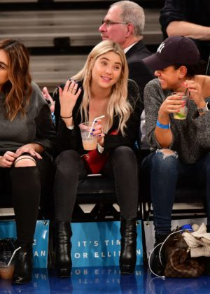Ashley Benson - Brooklyn Nets Vs New York Knicks game in NYC