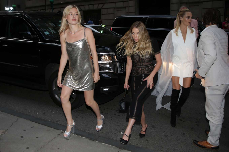 Ashley Benson 2019 : Ashley Benson Cara Delevingne and Georgia May Jagger: Outside the 2019 TrevorLIVE Gala-07