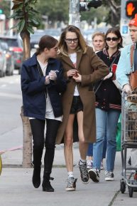 Ashley Benson, Cara Delevingne and Kaia Gerber - Shopping in West Hollywood