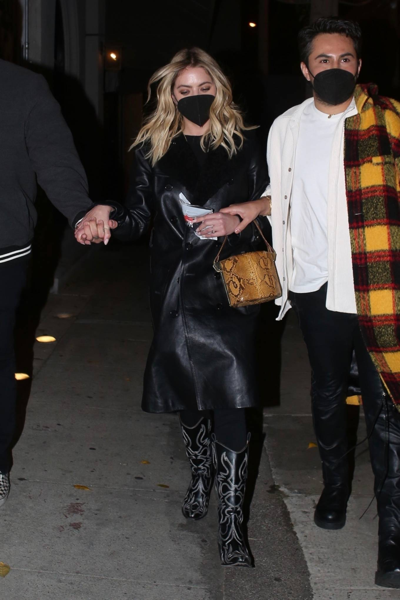Ashley Benson - Dons leather and western boots in West Hollywood