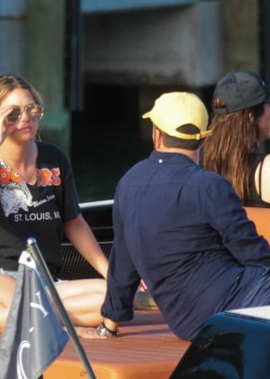 Ashley Benson - Enjoys a day on a boat with friends in Miami