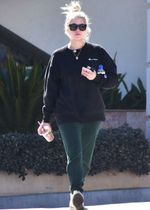 Ashley Benson - Gets iced coffee while out in LA