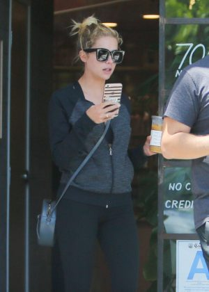 Ashley Benson getting a coffee in West Hollywood