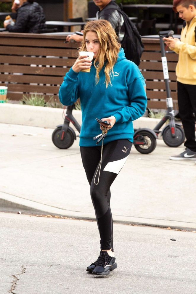 Ashley Benson: Grabs her morning coffee -05