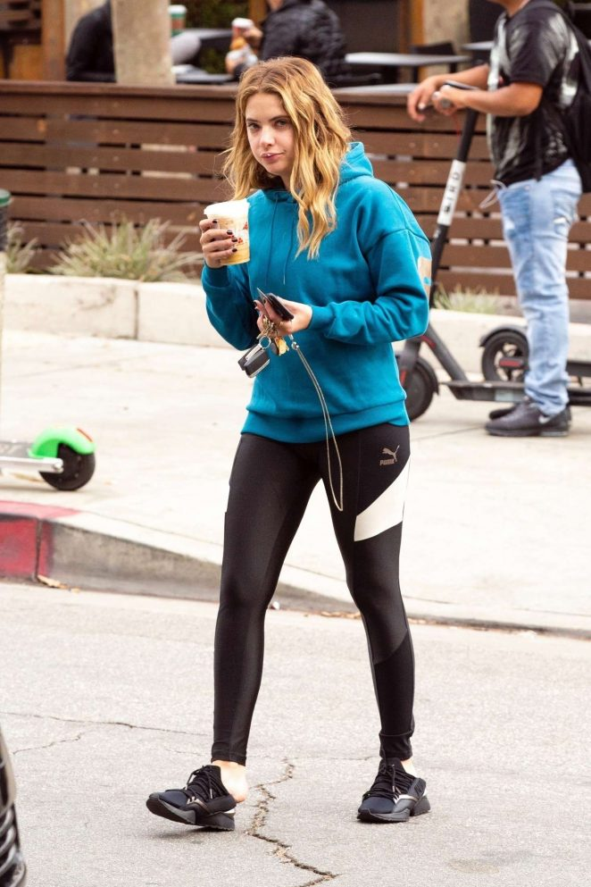 Ashley Benson: Grabs her morning coffee -07