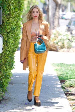 Ashley Benson - Heads to a business meeting in Hollywood