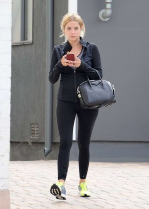 Ashley Benson - Heads to the gym in Los Angeles