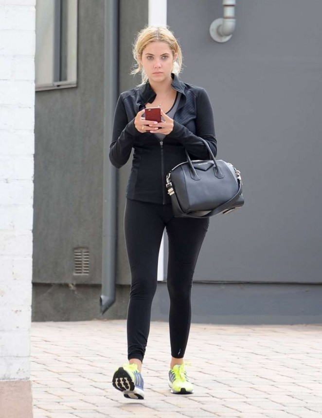 Ashley Benson – Heads to the gym in Los Angeles