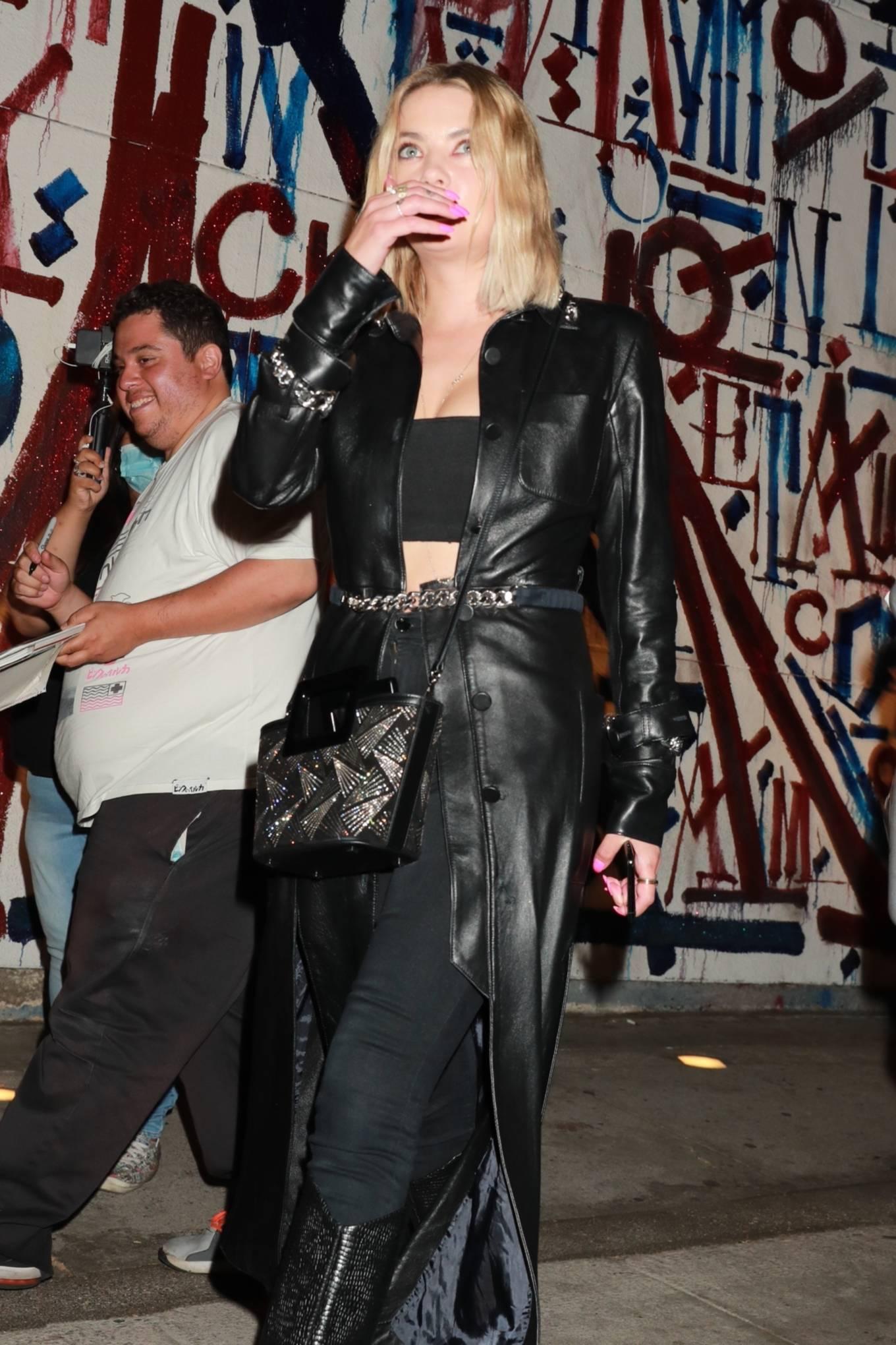 Ashley Benson 2021 : Ashley Benson – In all black leaving Craig's in West Hollywood-02