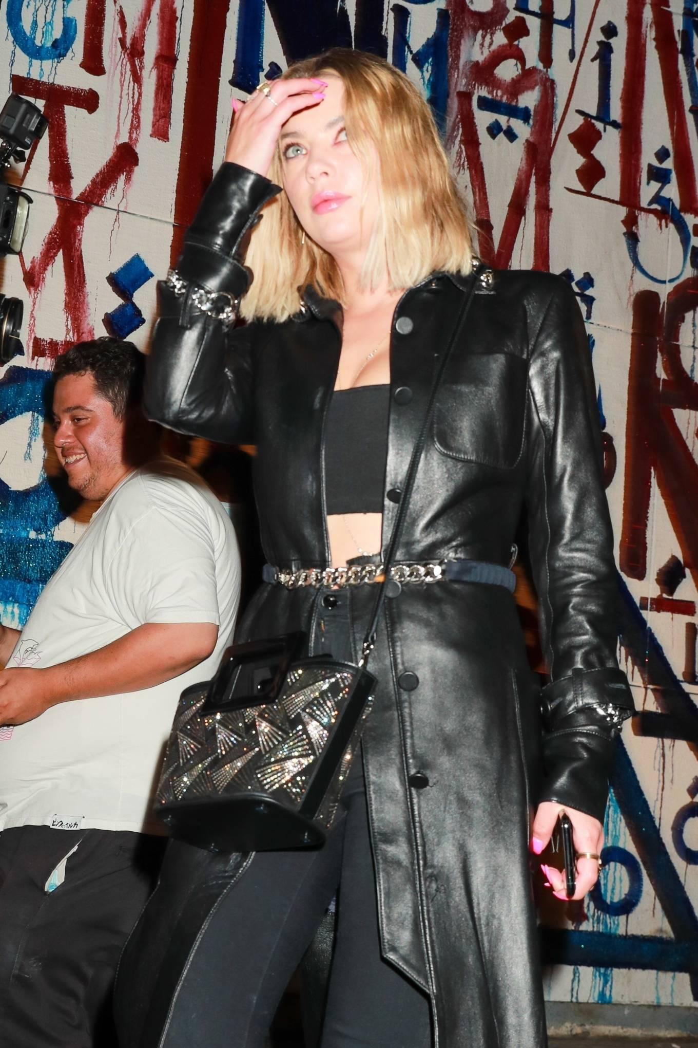 Ashley Benson 2021 : Ashley Benson – In all black leaving Craig's in West Hollywood-05