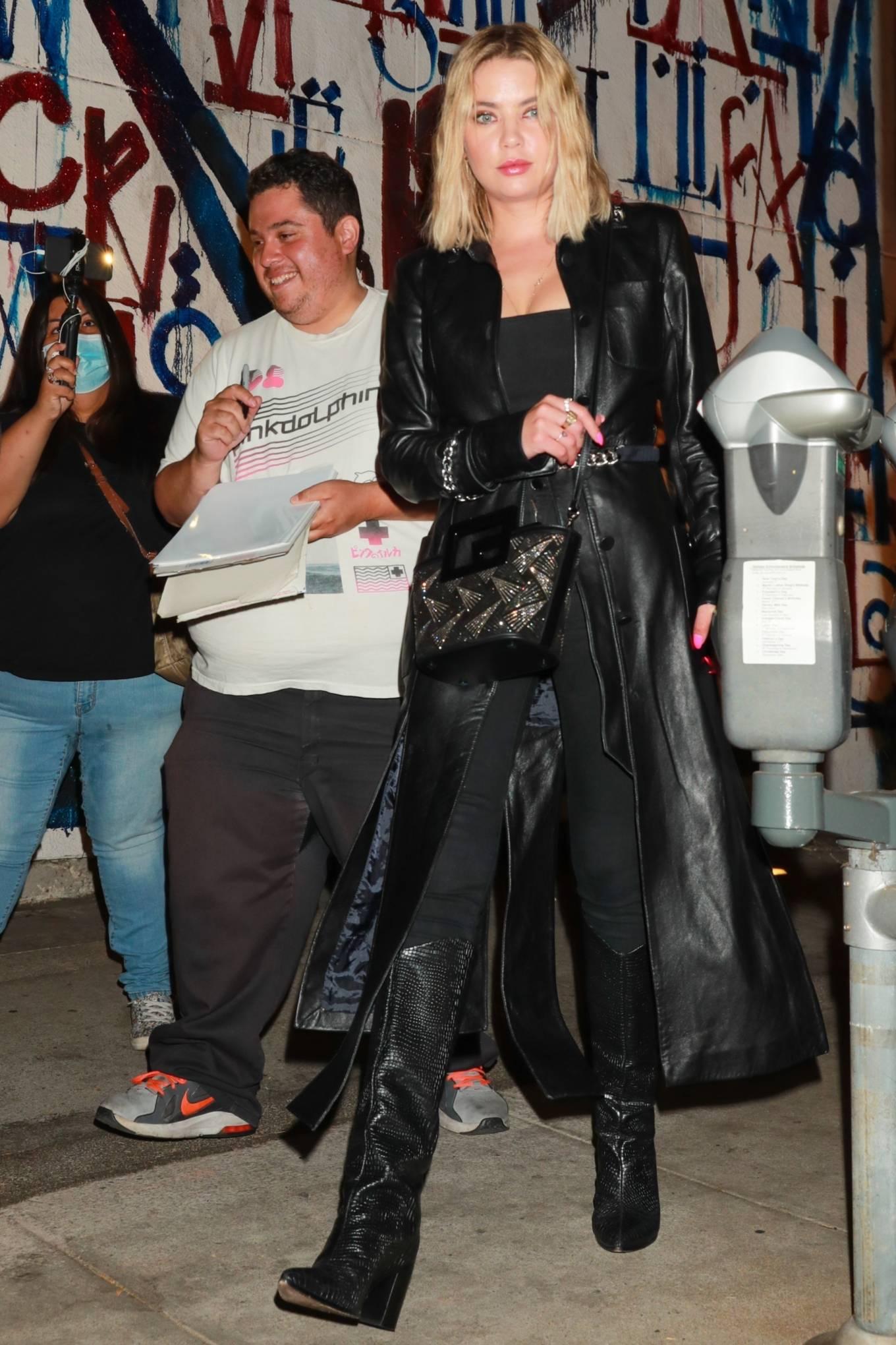 Ashley Benson 2021 : Ashley Benson – In all black leaving Craig's in West Hollywood-08