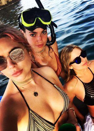 Ashley Benson in Bikini Top - Instagram