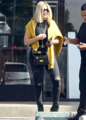 Ashley Benson in Black Ripped Jeans - Out in Los Angeles