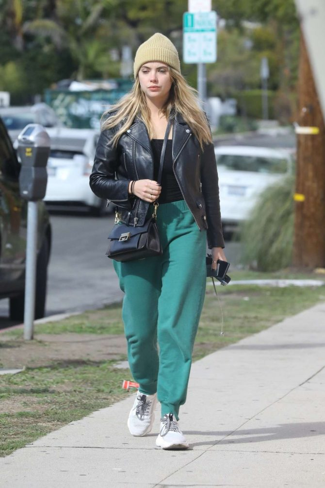 Ashley Benson in Green Sweatpants -03