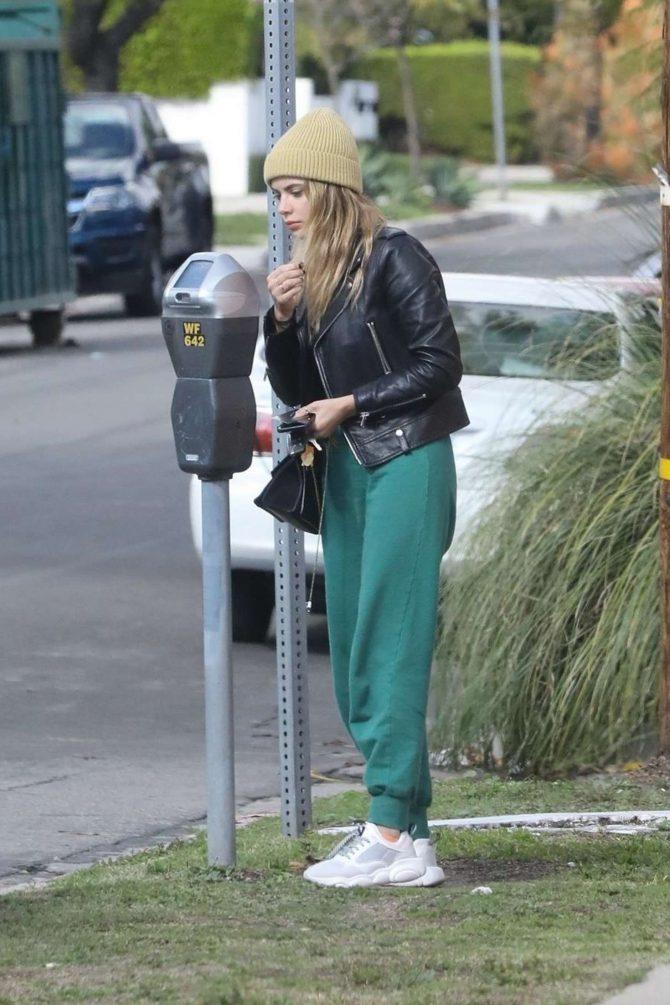 Ashley Benson in Green Sweatpants -04