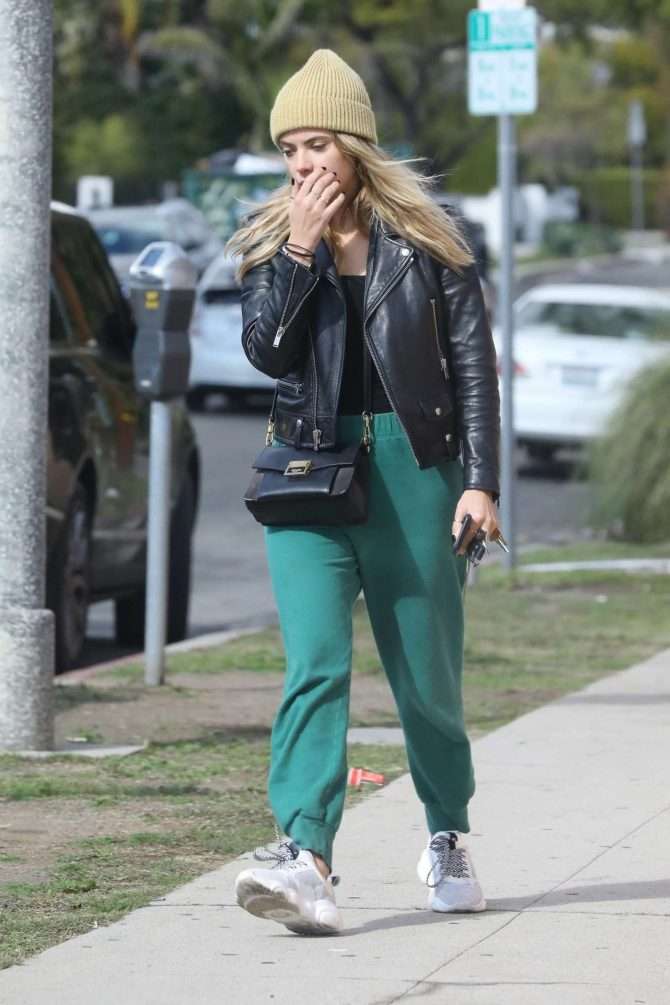 Ashley Benson 2019 : Ashley Benson in Green Sweatpants -05