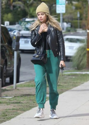Ashley Benson in Green Sweatpants - Out in LA
