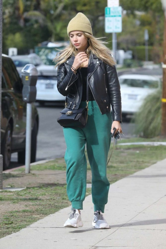 Ashley Benson in Green Sweatpants – Out in LA