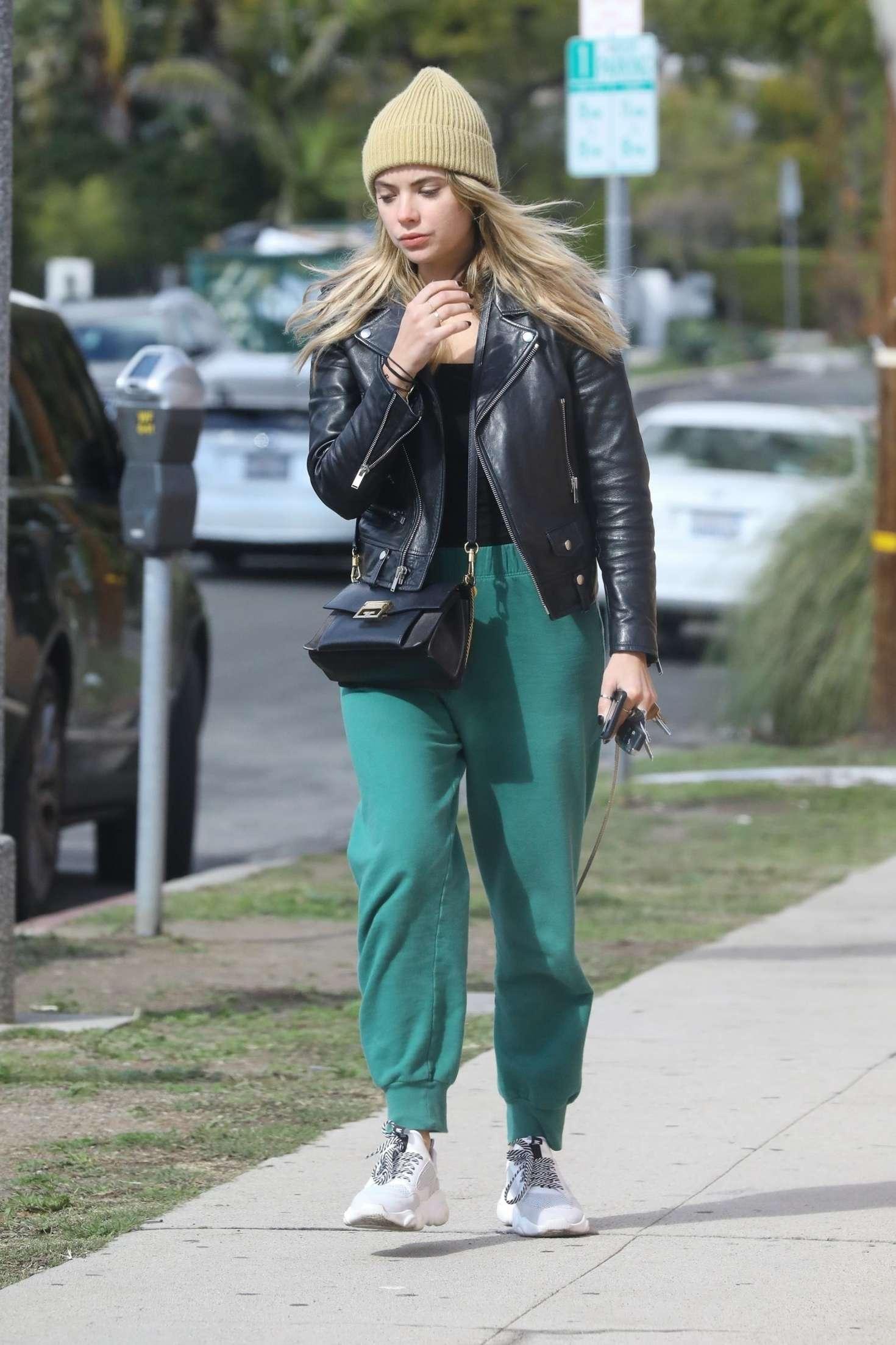 Ashley Benson in Green Sweatpants – Out in LA