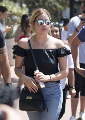 Ashley Benson in Jeans out in Cannes