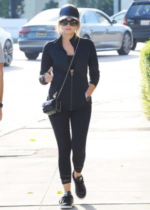 Ashley Benson in Leggings out in LA