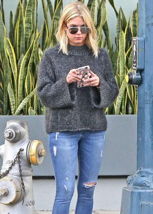 Ashley Benson in Ripped Jeans out in Beverly Hills