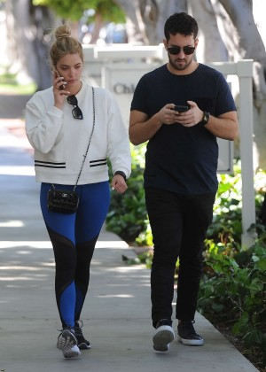 Ashley Benson in Spandex Out in Melrose Place