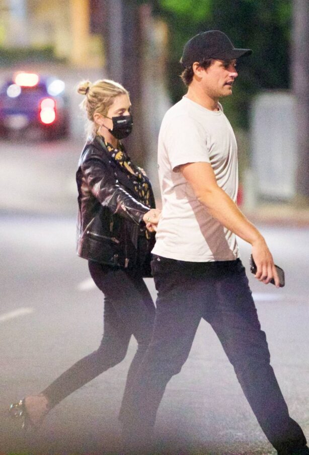 Ashley Benson - Is spotted at Saddle Ranch in Hollywood