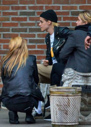 Ashley Benson, Kristen Stewart and Stella Maxwell out together in NYC