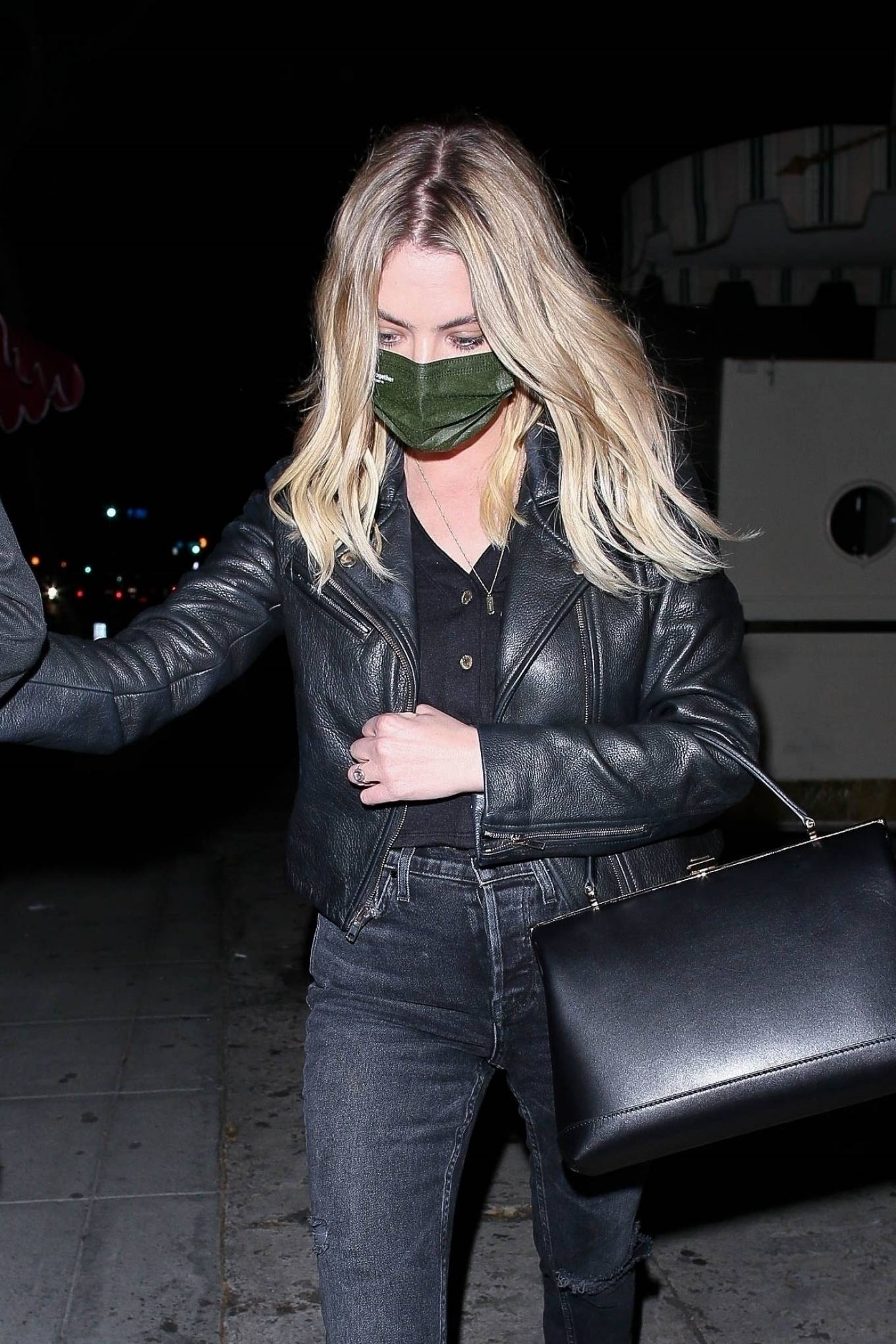 Ashley Benson 2021 : Ashley Benson – Leaves a night out at Delilah in West Hollywood-03