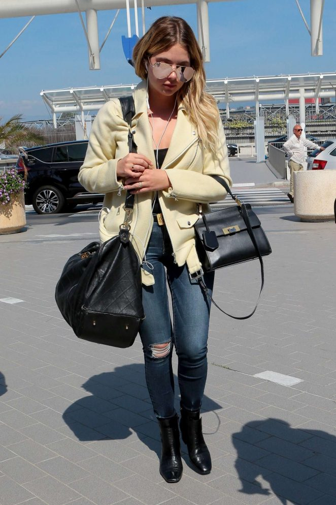 Ashley Benson - Leaves the Cannes Film Festival in France