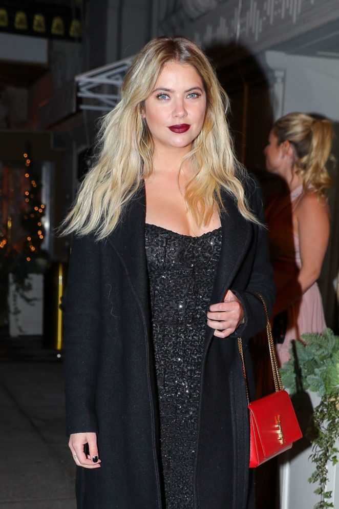 Ashley Benson – Leavese The Pierre hotel in NYC