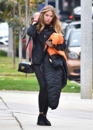 Ashley Benson - Leaving a hair salon in Los Angeles