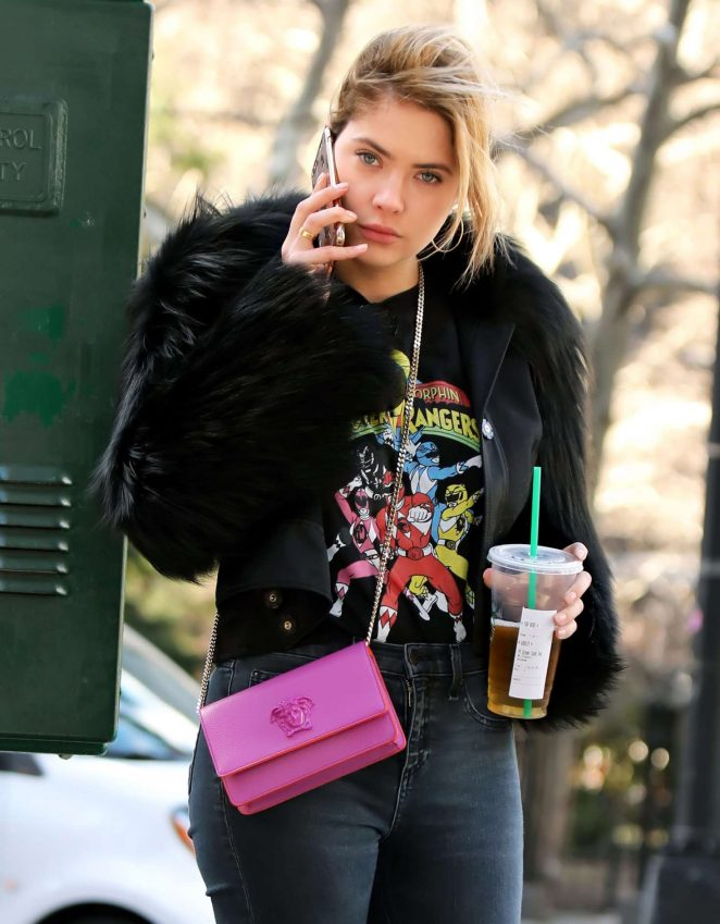 Ashley Benson Leaving a tea shoppe in NY