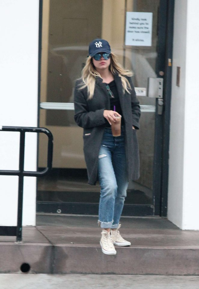 Ashley Benson – Leaving Coffee Bean in Los Angeles