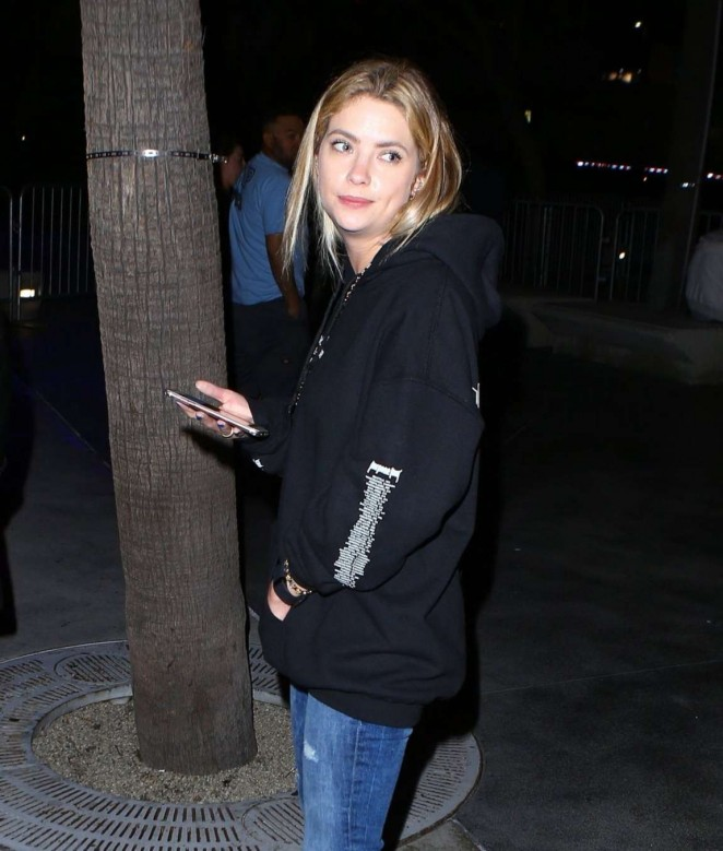 Ashley Benson - Leaving Justin Bieber Concert in Los Angeles